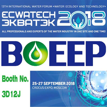 Visit BOEEP Technology at Booth 3D12J at ECWATECH 2018 in Moscow