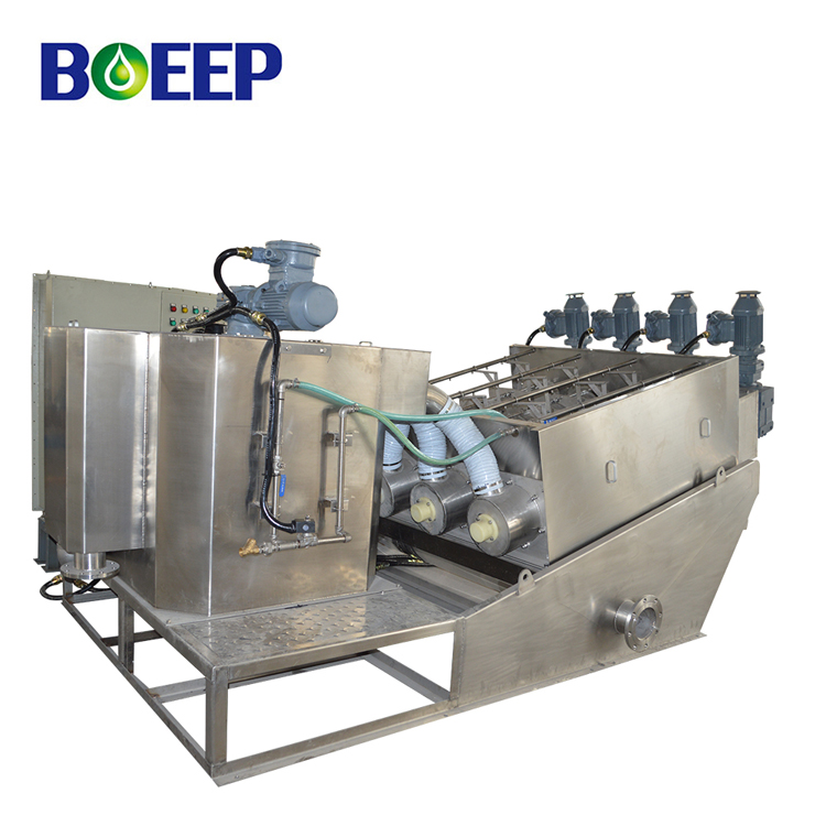 Low Noise Volute Screw Sludge Dehydrator for Farm Wastewater Treatment