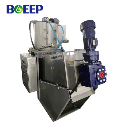 Vehicle Volute Screw Press Machine for Domestic Effluent Sludge Dewatering