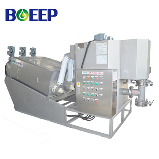 Pre-thickening Volute Screw Press Sludge Dehydrator for Wastewater Treatment