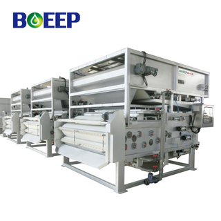 Automatic Belt Press Dehydrator for Biochemical Wastewater Sludge Cake Solid