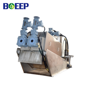 Easy Operation Volute Screw Filter Press Sludge Dewatering Machine for Waste Water Treatment