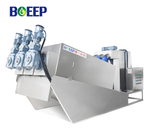 Integrated Screw Filter Press Dewatering with Low Operational Cost for Slaughter